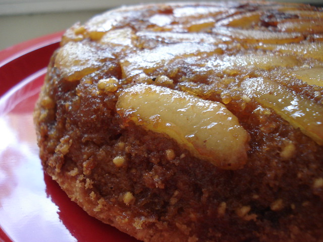 Pear upside down cake   Flickr - Photo Sharing!