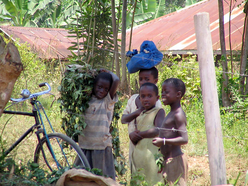 Children near Masaka