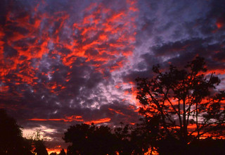 Red Twilight, Canyon Sky in San Diego, California