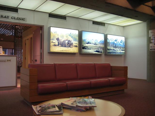 Waiting room at xray clinic