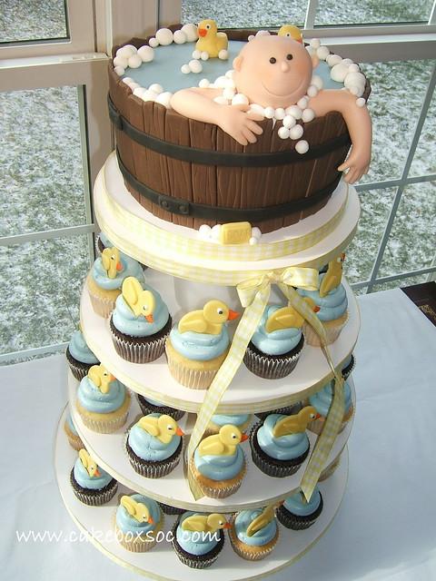 Baby Shower Cupcake Tower Ideas : Washtub Baby Cupcake Tower Flickr - Photo Sharing!