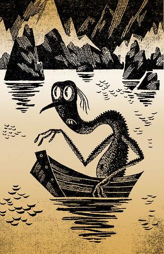 gollum by a soviet illustrator, M. Belomlinsky