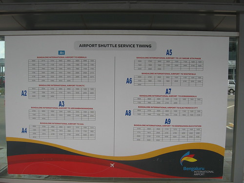 For city to BIAL services and timings go to http://www.mybmtc.com/airportservices If out of service go instead to  http://mpvinay.blogspot.com/2009/09/bmtc-vayu-vajra-volvo-service-to.html