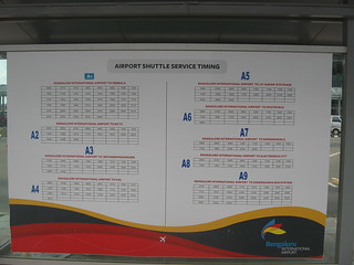 For city to BIAL services and timings go to http://www.bmtcinfo.com/site/BSBusServicesRouteDetails.jsp?bsserviceid=1 If out of service go instead to  http://mpvinay.blogspot.com/2009/09/bmtc-vayu-vajra-volvo-service-to.html Timings of buses from BIAL to B