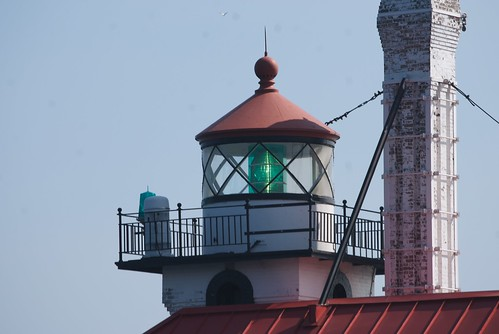 Duluth South Pier Lighthouse - A Closeup of the Lantern Room