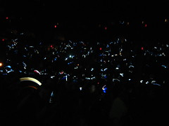 Trans Siberian Orchestra Concert - People Waving Their Cellphones In The Dark