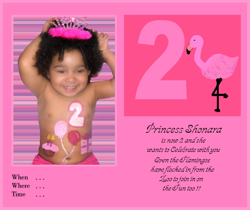 Shonaras 2nd Birthday Invitation