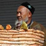 Xinjiang Food: Stacked Sausages - Kashgar, China