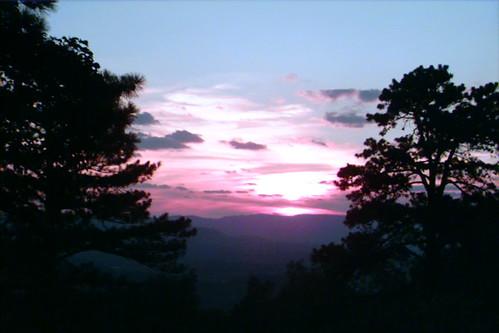 blue sunset mountains ridge roanoke