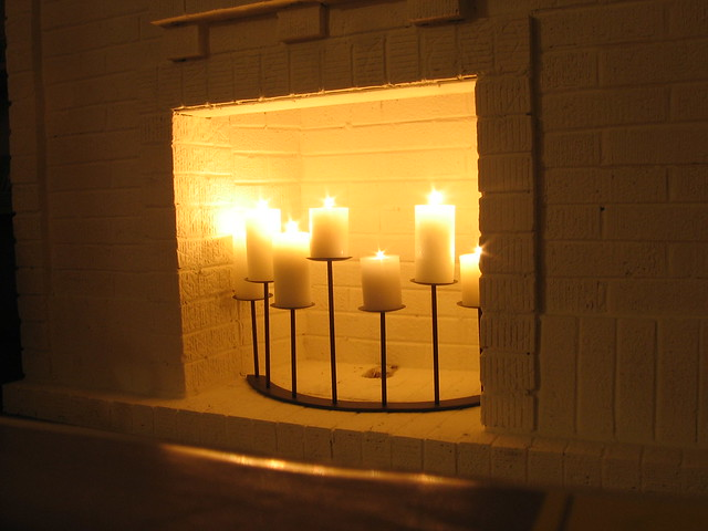 Candles In Fireplace Flickr Photo Sharing