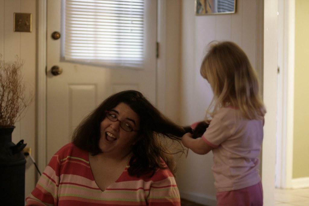 brushing my hair