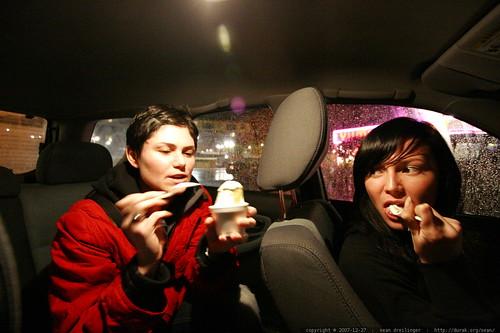 sisters with their yumi yogurt    MG 8144