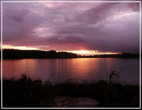 sunset sky sun lake france reflection nature water landscape lac lorraine vosges bouzey francelandscapes sanchey