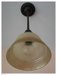 ceiling fan(0.0), iron(0.0), lighting(0.0), brass(0.0), lamp(1.0), light fixture(1.0), sconce(1.0), ceiling(1.0),