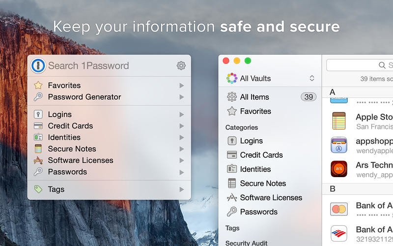 1Password 7 3 2 – Password Manager and Secure Wallet | macOS
