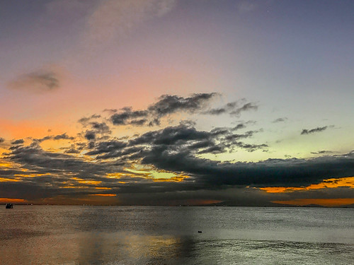 2017 philippinen philippines landscape bay manila sunset orange sky clouds