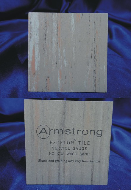 Armstrong Excelon Vinyl Asbestos Floor Tile Sample 702 Waco Sand