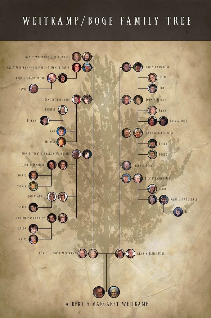 Blank printable family tree blank printable family tree for Plain family tree template