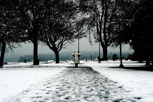 Winter wonderland, Kitsilano Beach (Vancouver)