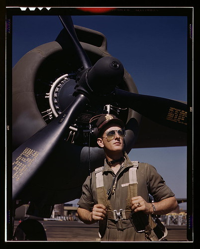 "Lieutenant ""Mike"" Hunter, Army pilot assigned to Douglas Aircraft Company, Long Beach, Calif. (LOC)"