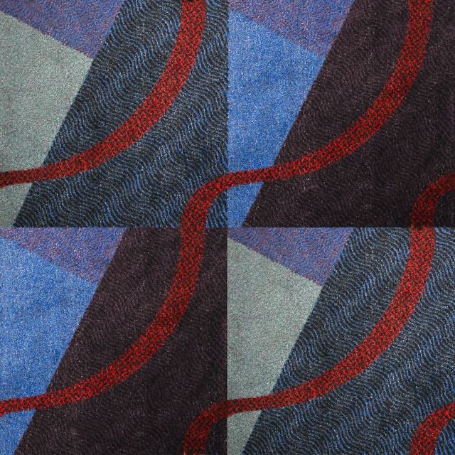 Contemporary Resort Multi Colored Carpet Texture With