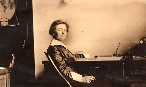 Hattie Mae Dickson at a writing desk by christopher.andersen