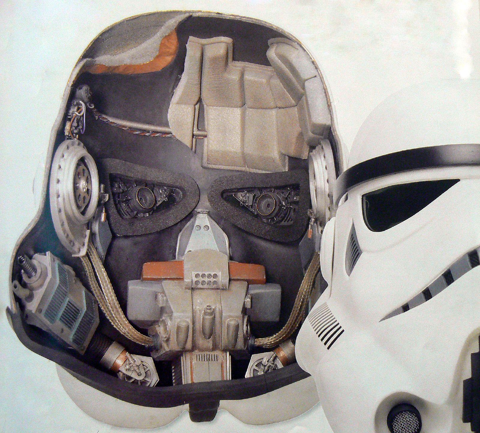 Шлем штурмовика из звездных войн своими руками из бумаги