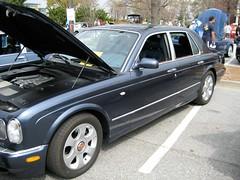 convertible(0.0), automobile(1.0), automotive exterior(1.0), executive car(1.0), wheel(1.0), vehicle(1.0), automotive design(1.0), rolls-royce silver seraph(1.0), bentley arnage(1.0), sedan(1.0), land vehicle(1.0), luxury vehicle(1.0), bentley(1.0),