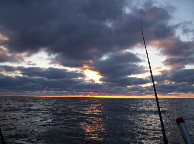 Frankfort Fishing Sunset