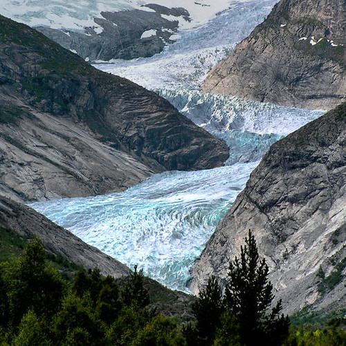 Largest glacier in the Europe
