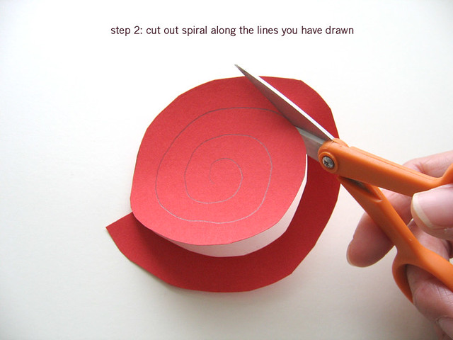 Paper flower tutorial: step 2