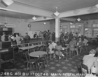 Hamilton Field, CA Post Exchange restaurant 17 October 1945