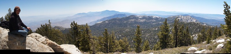 Panorama view south from Wellman Divide.