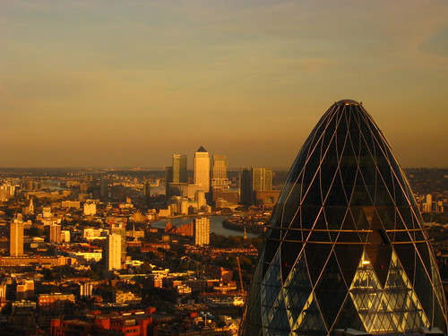 London - The Gherkin & Canary Wharf