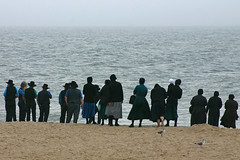 Amish Beach Gathering