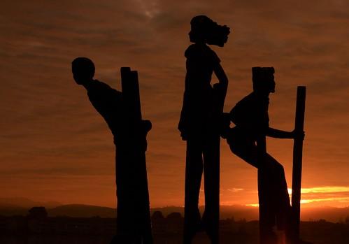 california park ca sunset sculpture black playground statue clouds dark children play weekend peninsula silhoutte fostercity sanmateocounty platinumphoto aplusphoto leojryan