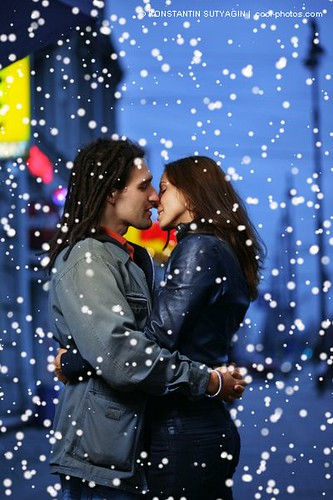Young Couple Kissing In A City Strobist Info Canon 540ez Flickr