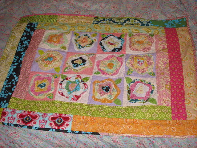 french roses quilt is done! Flickr - Photo Sharing!