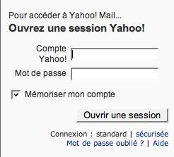 Ouverture de session Yahoo! - Création de compte