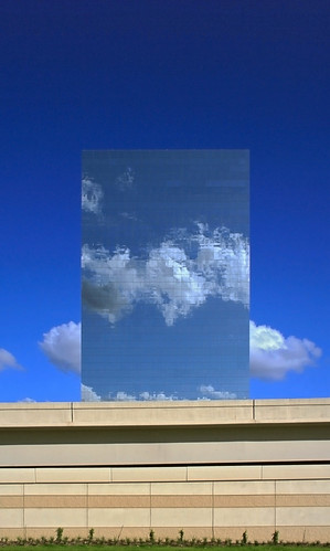 blue sky reflection building glass clouds mirror texas houston surreal houstonist haif lenshouston