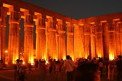 luxor temple at dusk, thebes, egypt 8