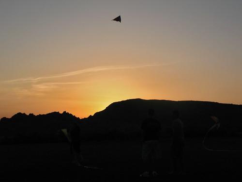 friends sunset sky kite silhouette mormon ysa homies lds