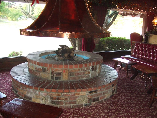 gorgeous firepit in the Magic Lamp Inn