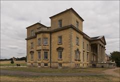 Croome Court - the house (St Mary Magdalene Church far left) (aw02 8/16)