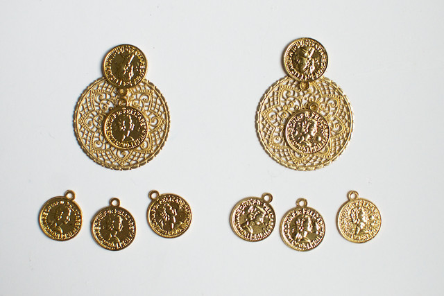 Make dolce and gabbana inspired earrings www.apairandasparediy.com