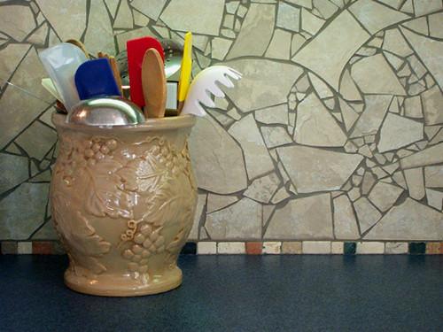 kitchen backsplash broken tile flickr photo sharing