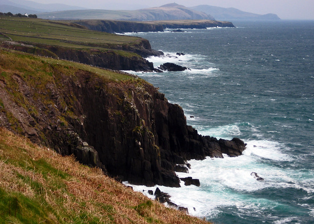 The Atlantic cliffs off the Dingle Peninsula in Ireland.