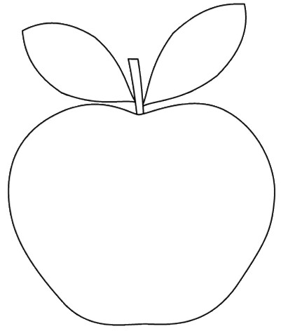 apple shape clipart to colour 12cm