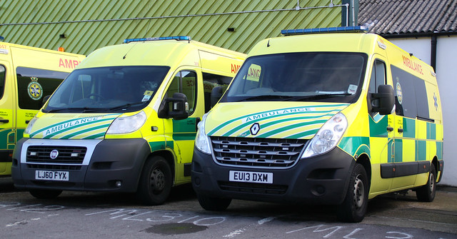 UK Specialist Ambulance Service - Fiat Ducato & Renault Master Emergency Ambulances ( LJ60 FYX + EU13 DXM )