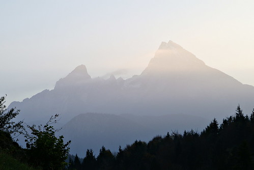 mt. watzmann from maria gern, bavaria